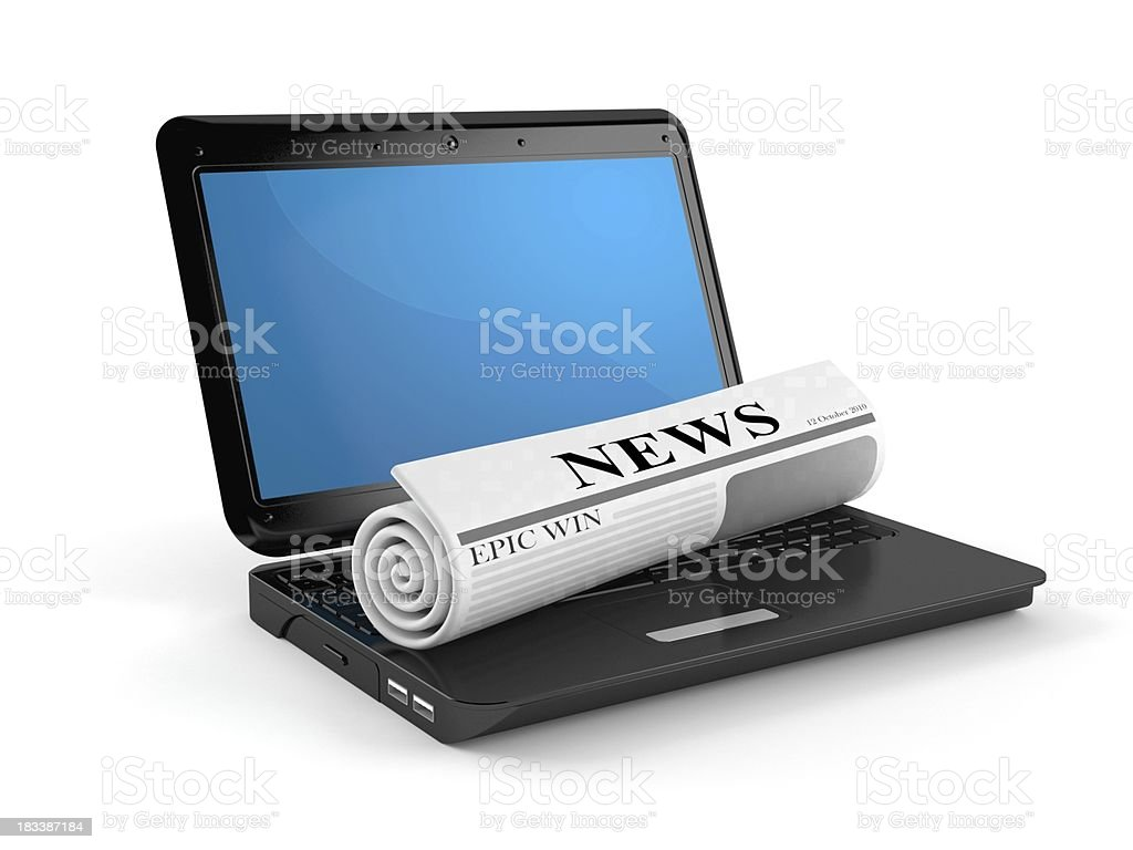 Computer news royalty-free stock photo