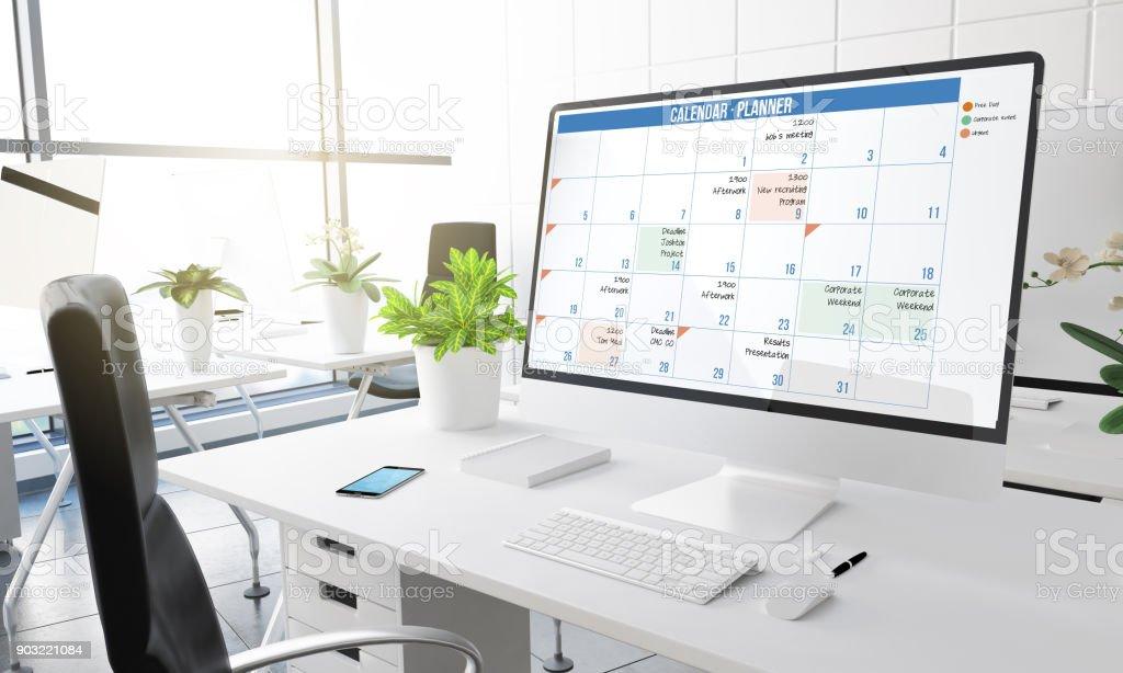 Computer Office Kalender – Foto