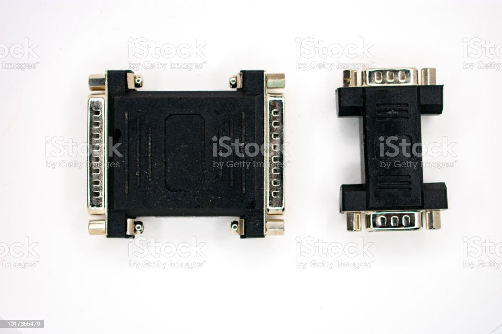 computer part plugs HI stock photo
