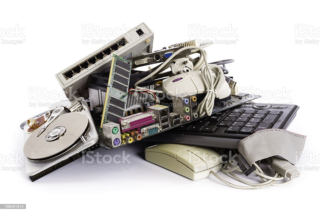 computer parts stock photo