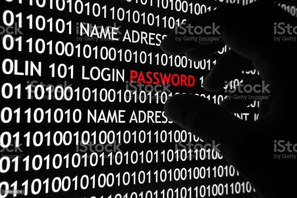 Computer Password Security royalty-free stock photo
