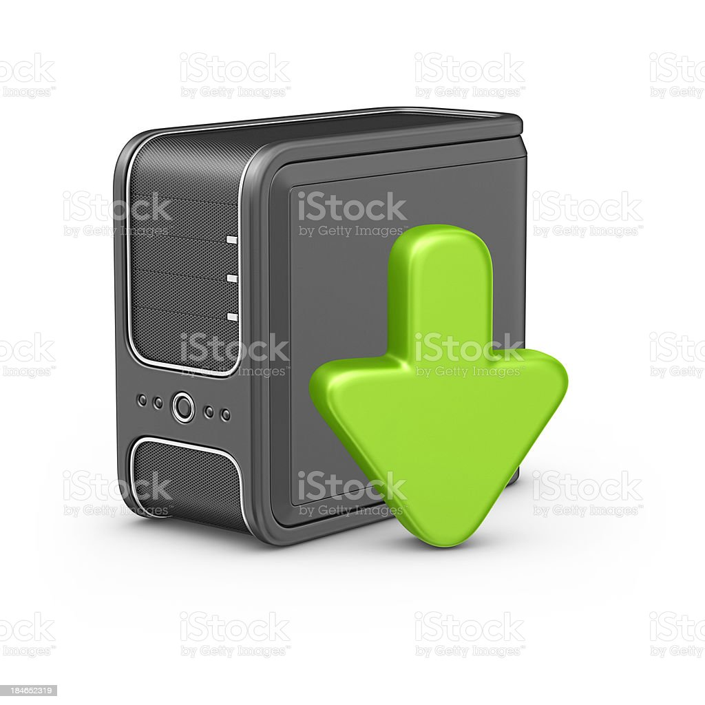 computer pc and arrow sign royalty-free stock photo
