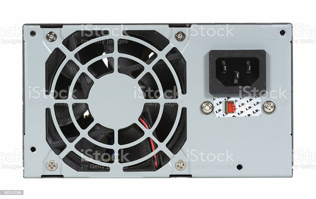 Computer Power Supply and Fan stock photo