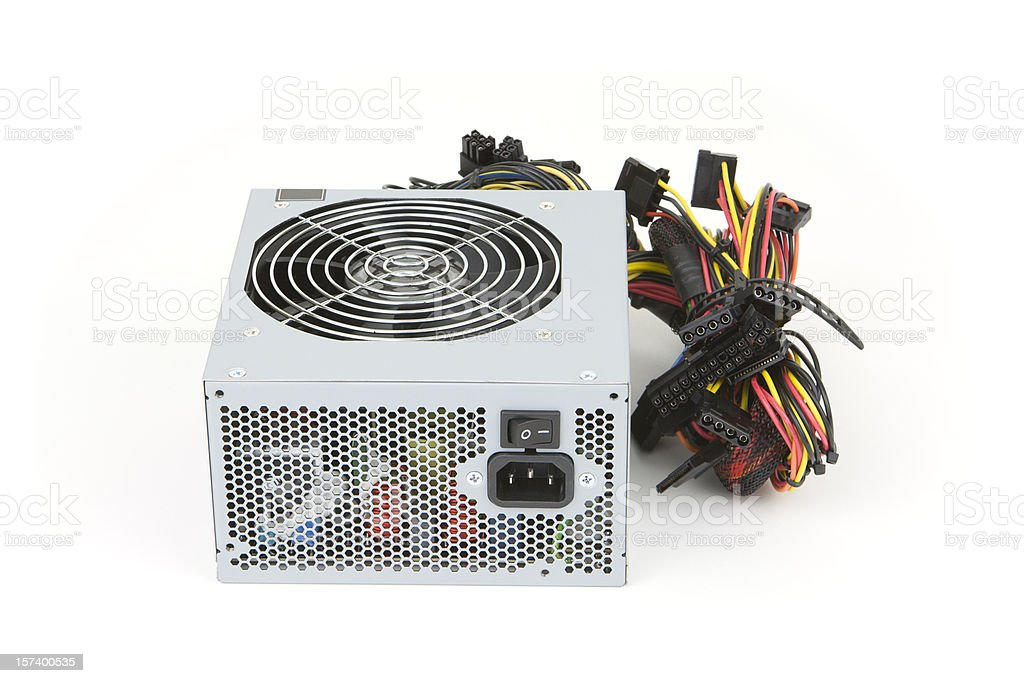Computer Power Supply stock photo