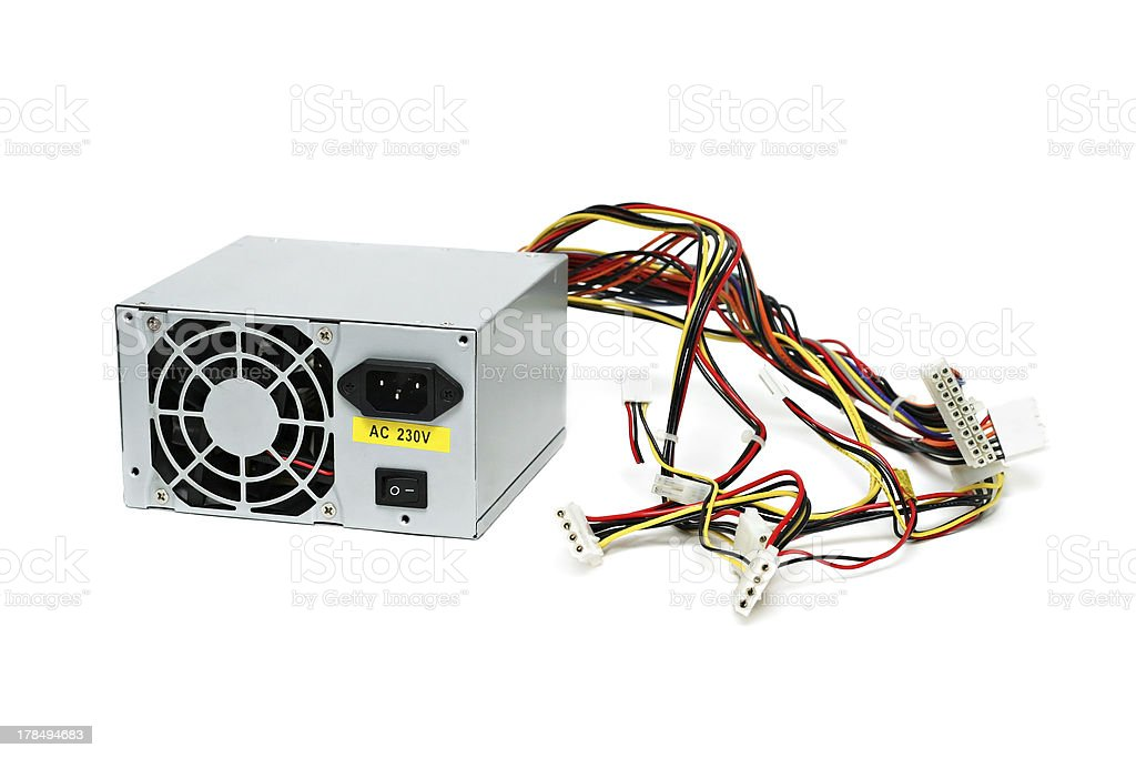 Computer power supply royalty-free stock photo