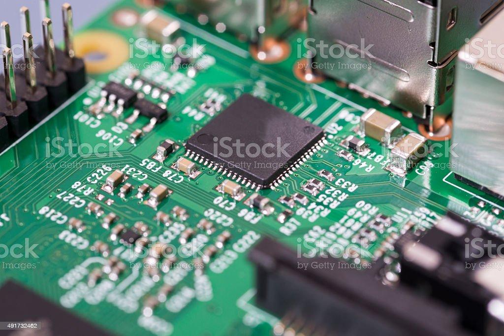 Computer Processor close-up stock photo