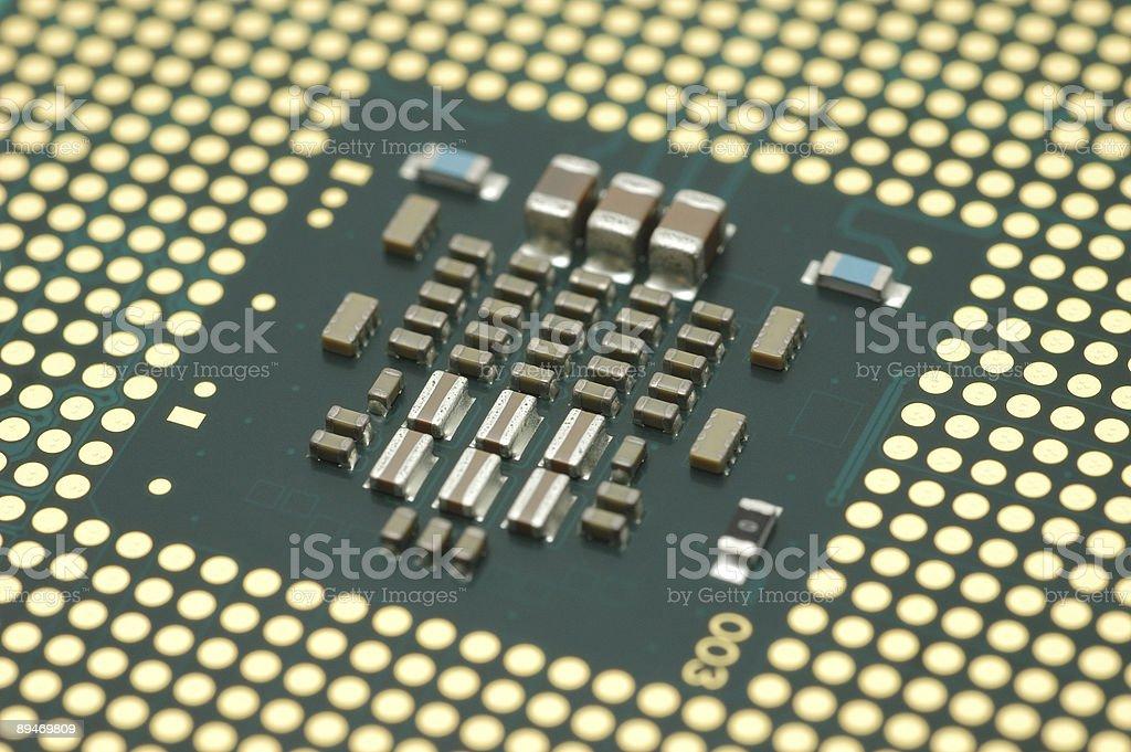 Computer processor core royalty-free stock photo