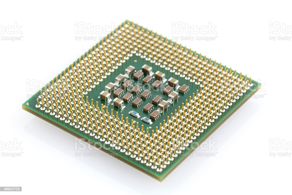 Computer Processor, CPU royalty-free stock photo