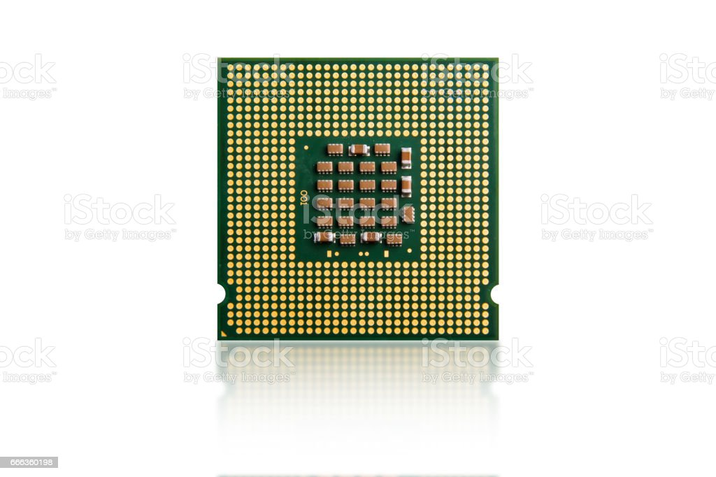 computer processor isolated on white stock photo