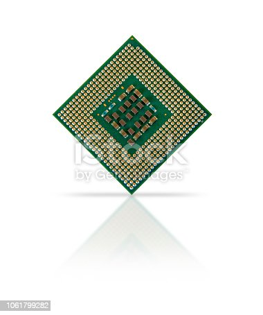 Coputer processor isolated on white