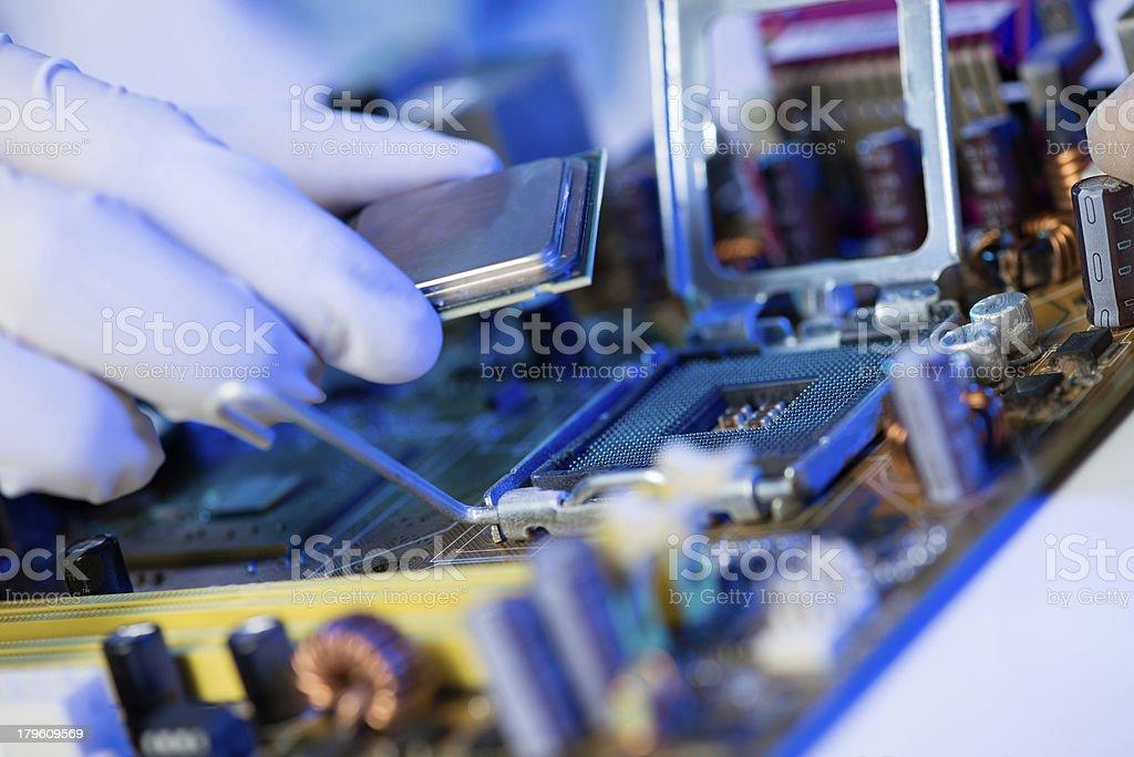 Computer processor royalty-free stock photo