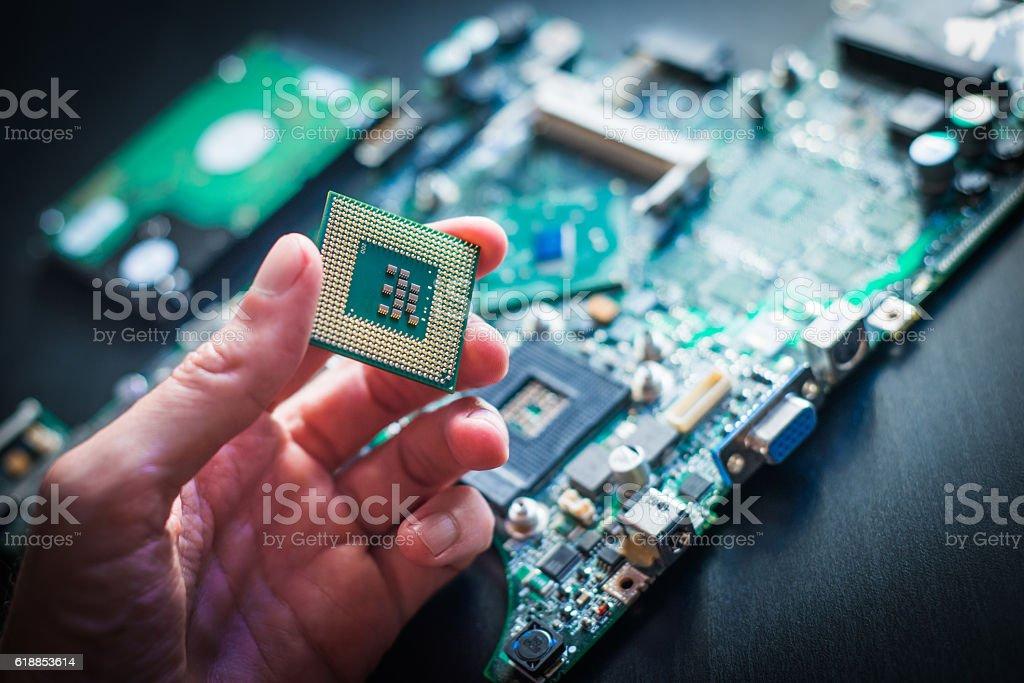 Computer processor stock photo