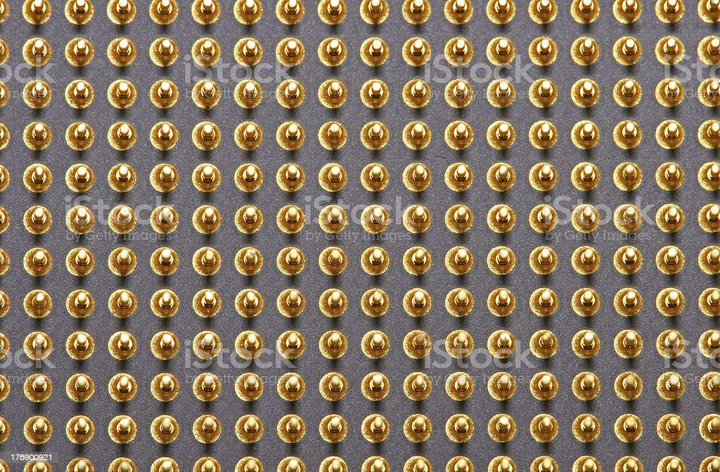 CPU computer processor pins, macro 1 stock photo