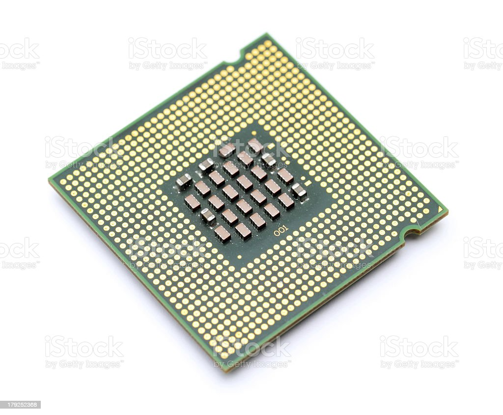 Computer processor unit royalty-free stock photo