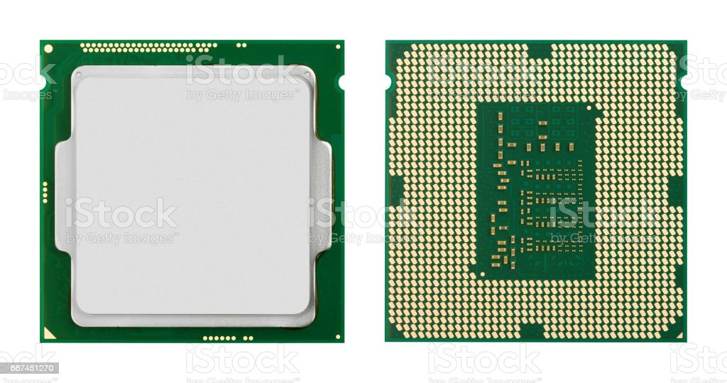 Computer processors CPU stock photo
