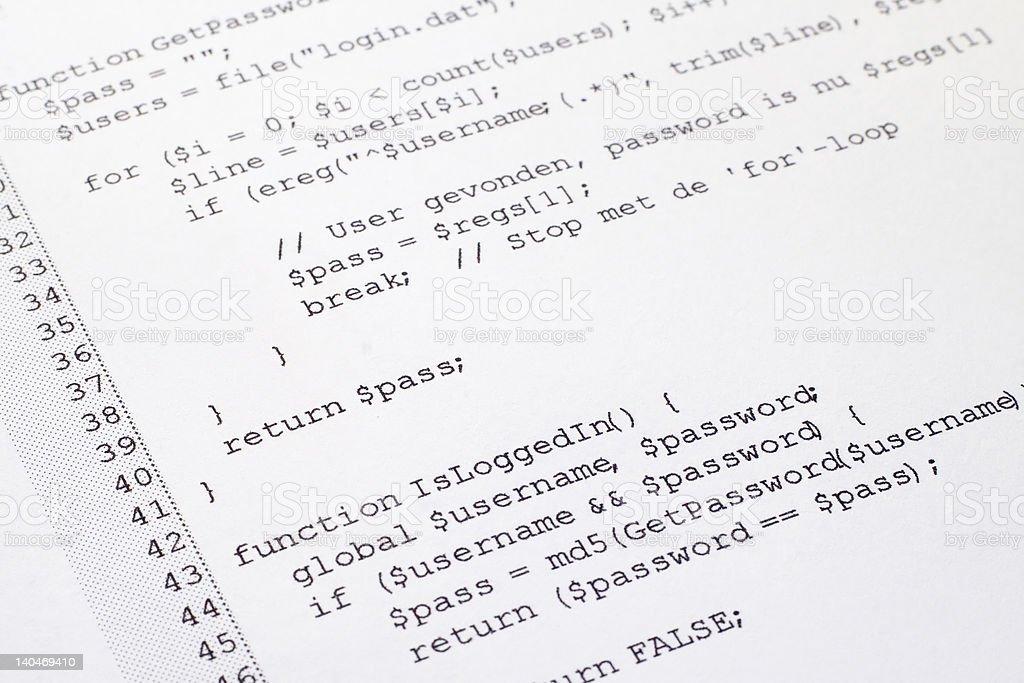 Computer programming code royalty-free stock photo
