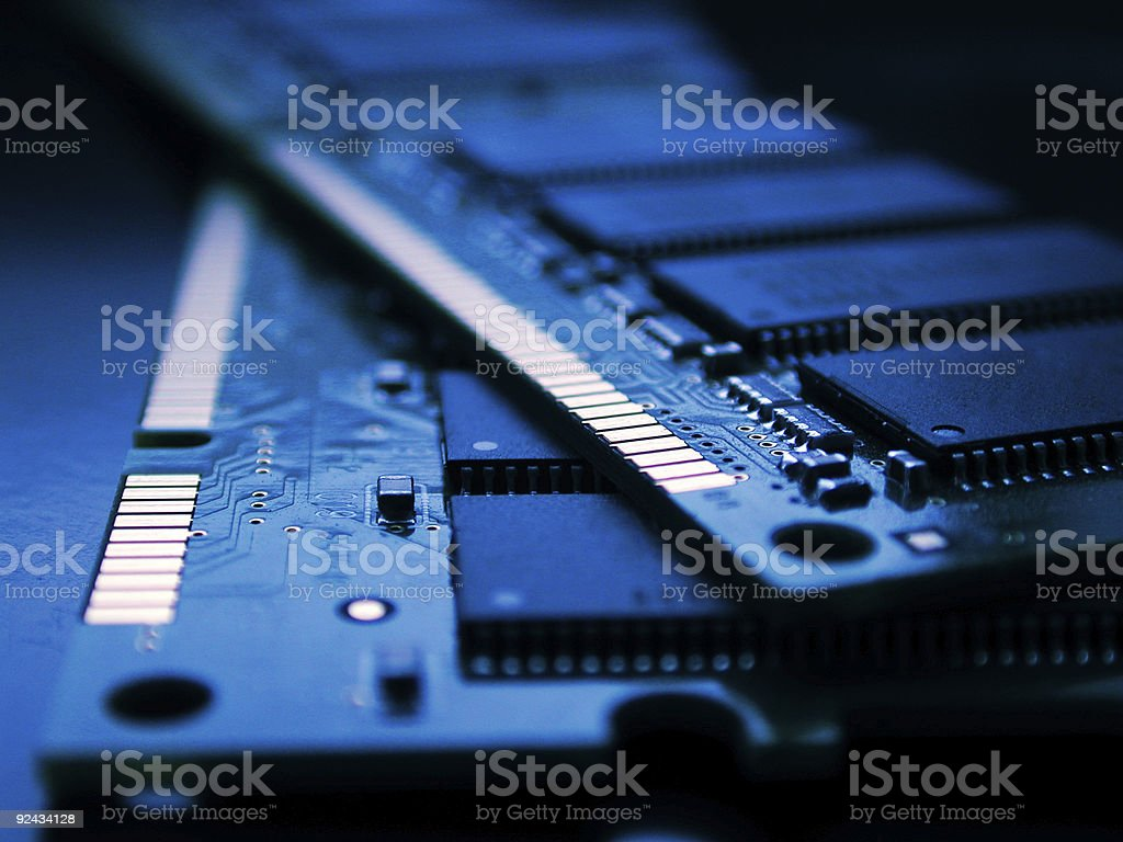computer RAM stock photo