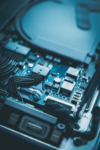 computer-reparatur und wartung festplatte blau design - desktop hintergrund hd stock-fotos und bilder