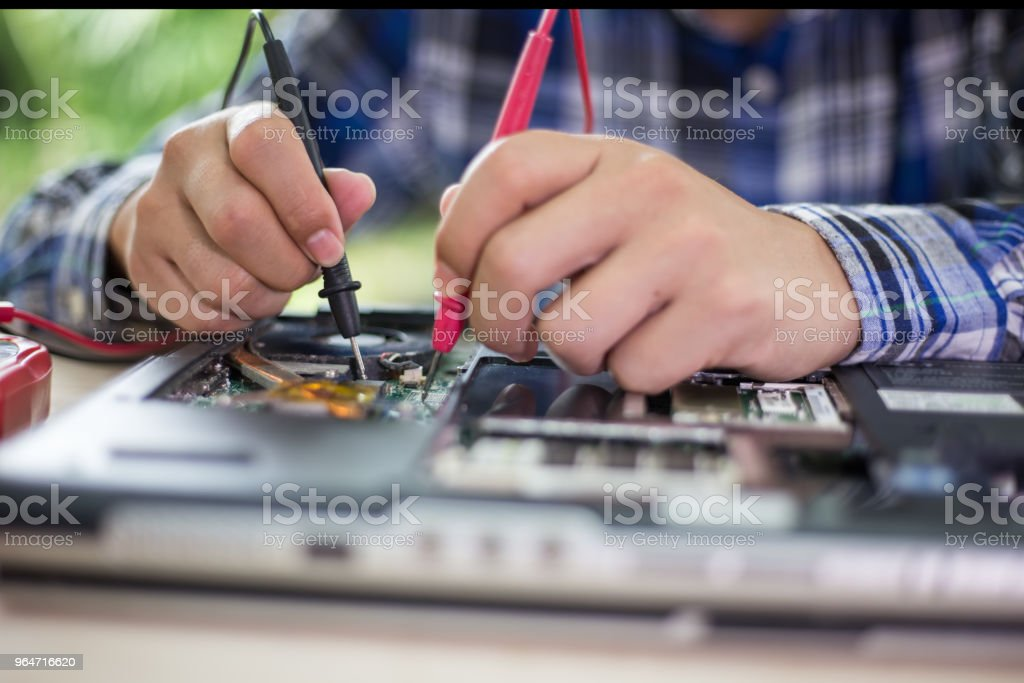 Computer repair concept Close-up view.Hardware. royalty-free stock photo