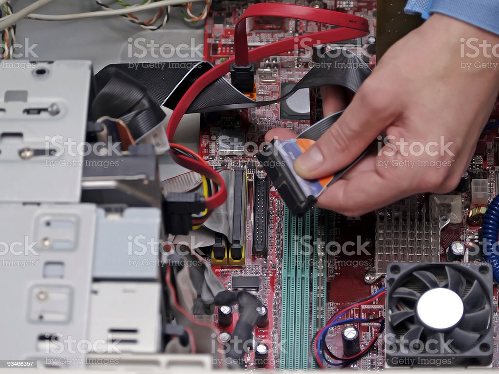 Computer Repair IDE Cable royalty-free stock photo