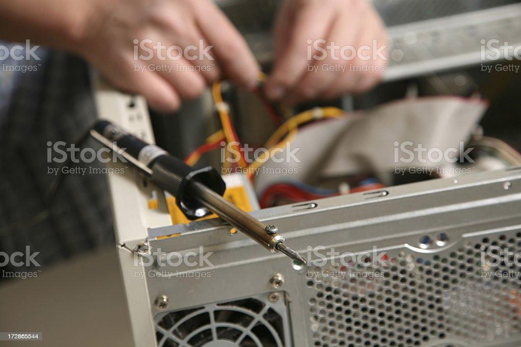 Computer repair royalty-free stock photo