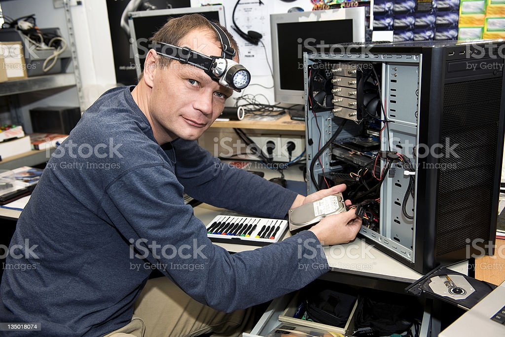 Computer repair shop royalty-free stock photo