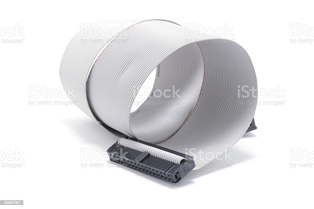 Computer Ribbon Cable royalty-free stock photo