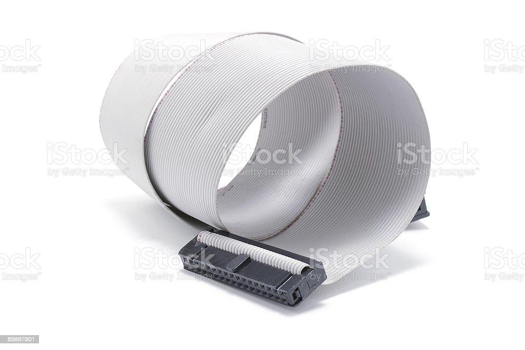 Ordenador de Cable plano foto de stock libre de derechos