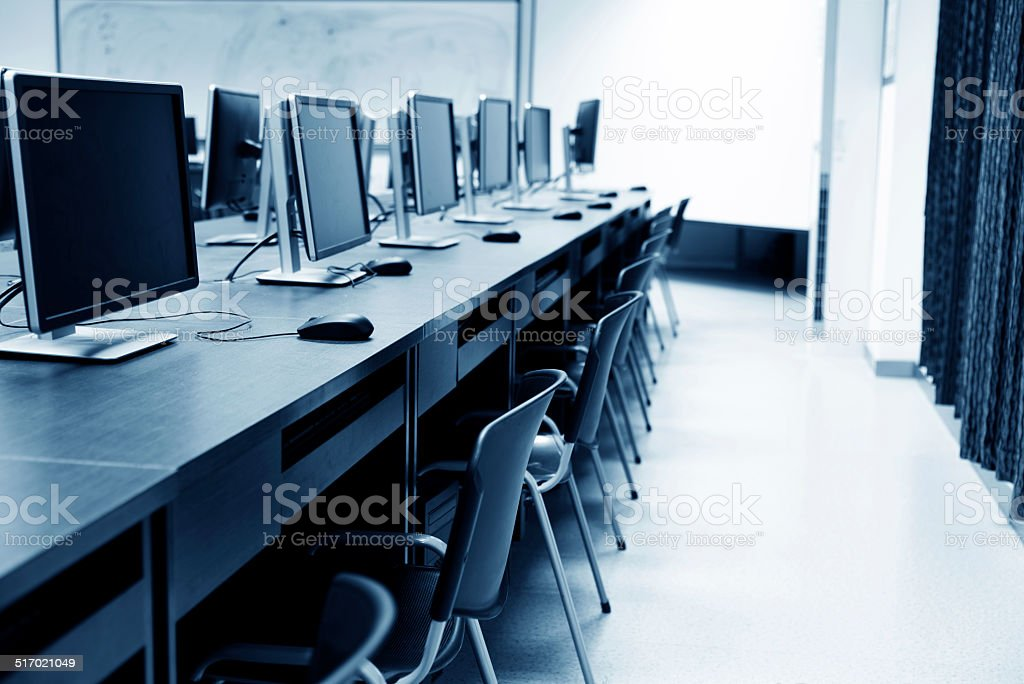 computer room stock photo