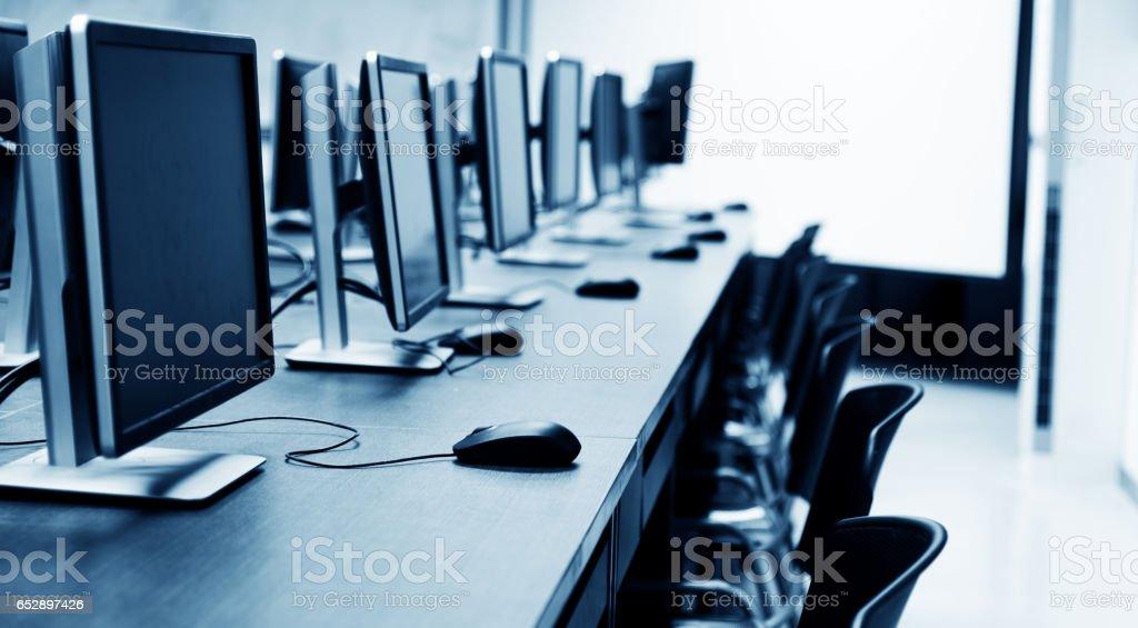 computer room stock photo