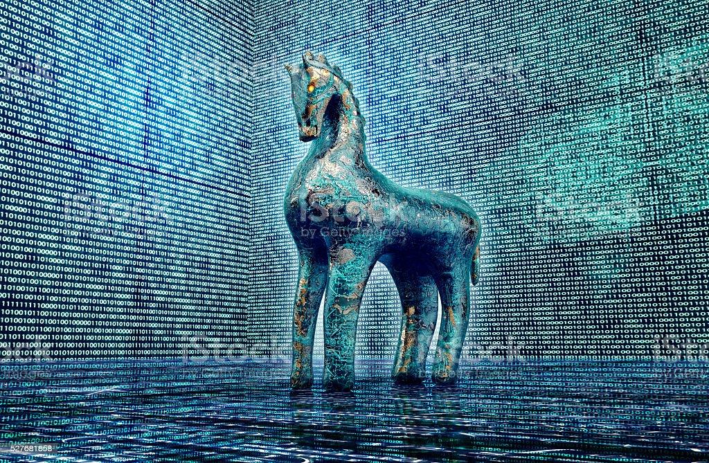 Computer Sicherheit Konzept, Trojaner in elektronischen Umgebung – Foto