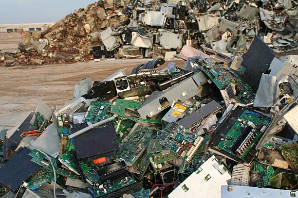 Computer, scrap metal and iron dump # 12 stock photo