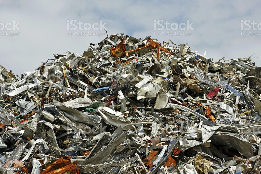 Computer, scrap metal and iron dump # 13 XL royalty-free stock photo