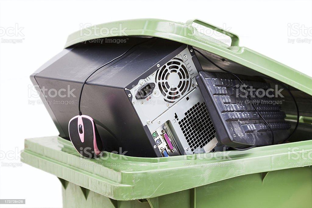 Computer scrap stock photo