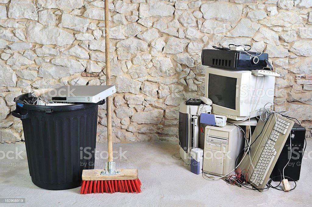 computer scrap two - Royalty-free Broken Stock Photo