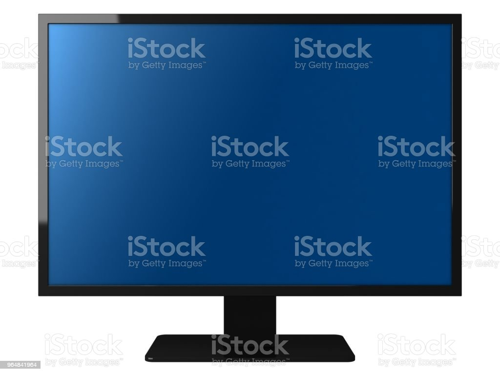 Computer screen pc workstation monitor isolated royalty-free stock photo