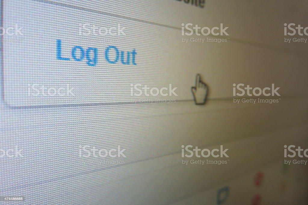 Computer screen stock photo