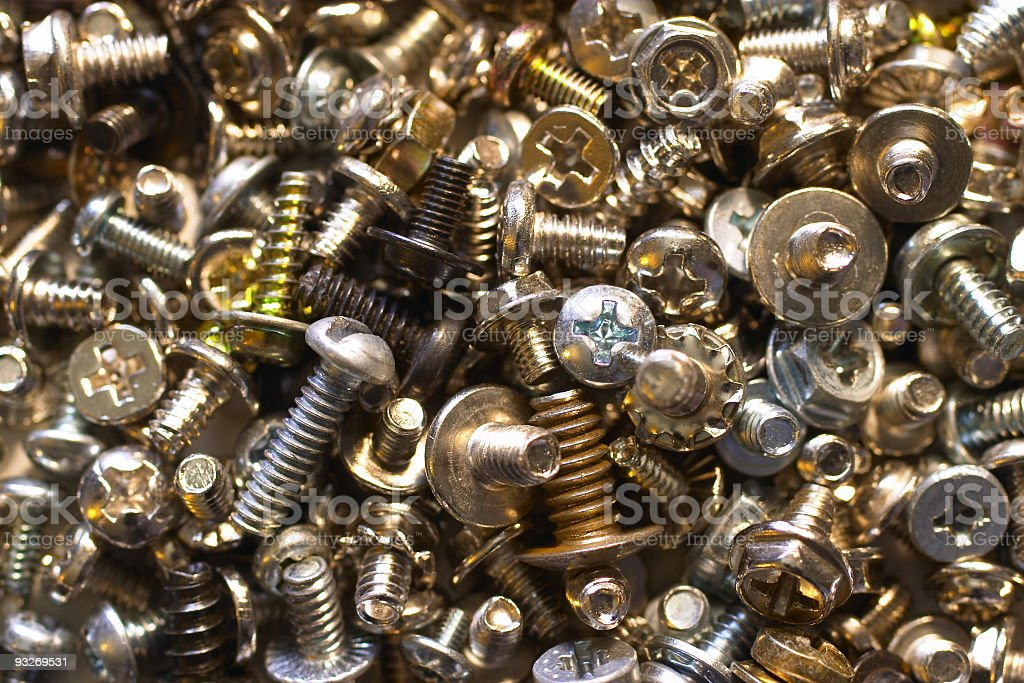 Computer Screws royalty-free stock photo