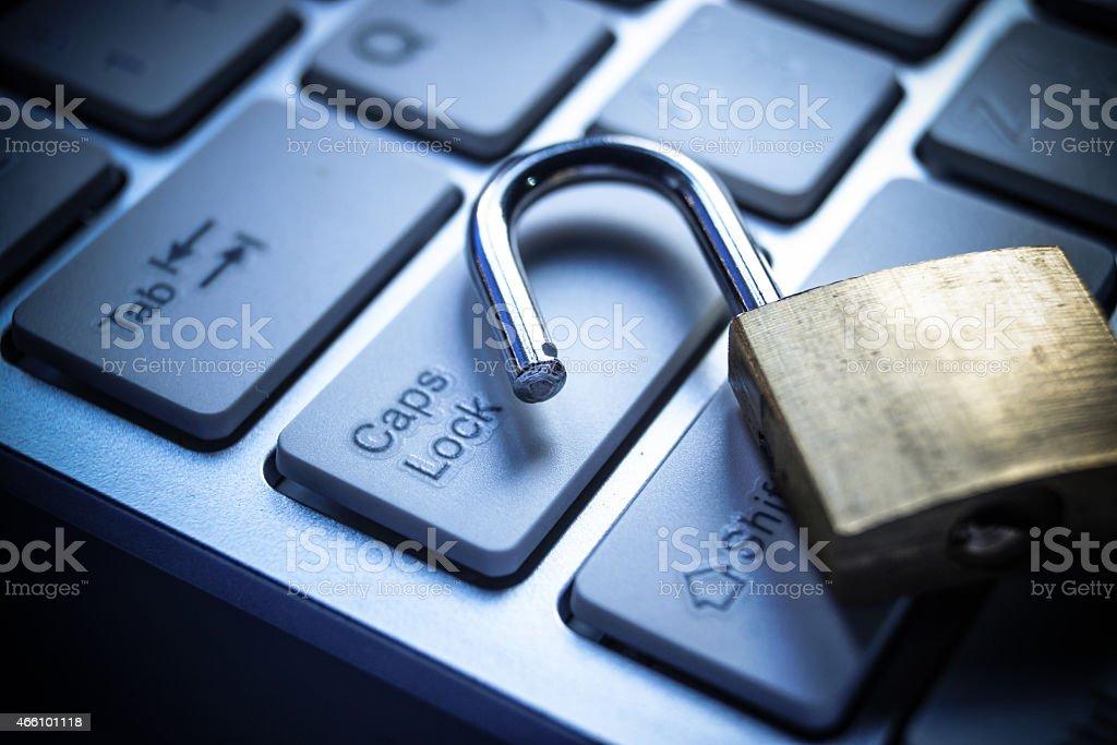 Computer security breach stock photo