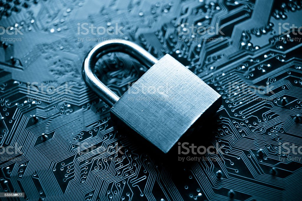 computer security system stock photo