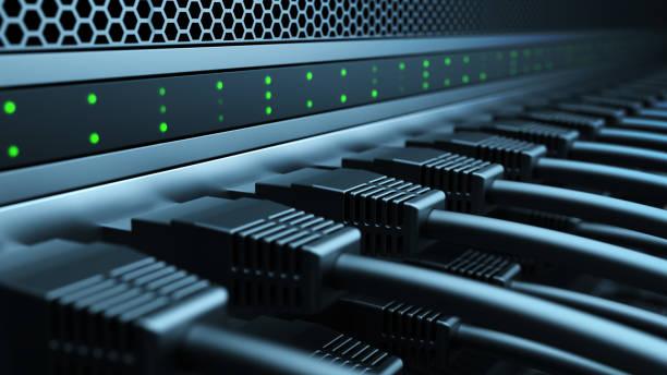 Computer server stock photo