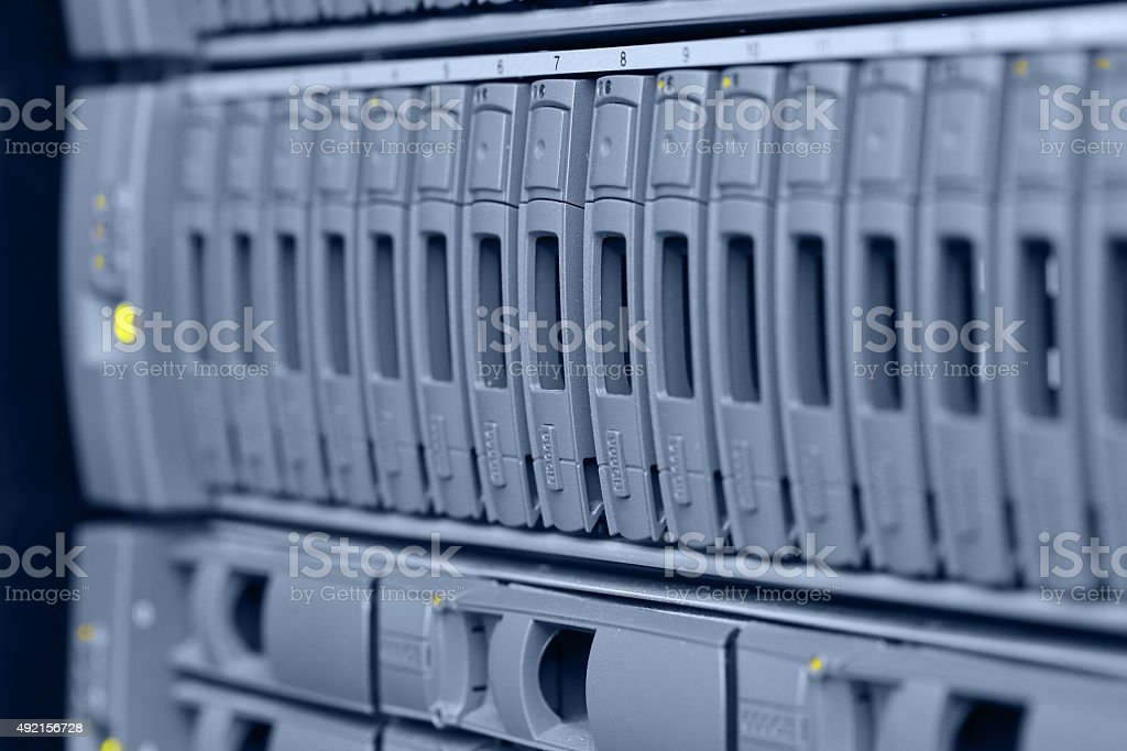 computer servers stock photo