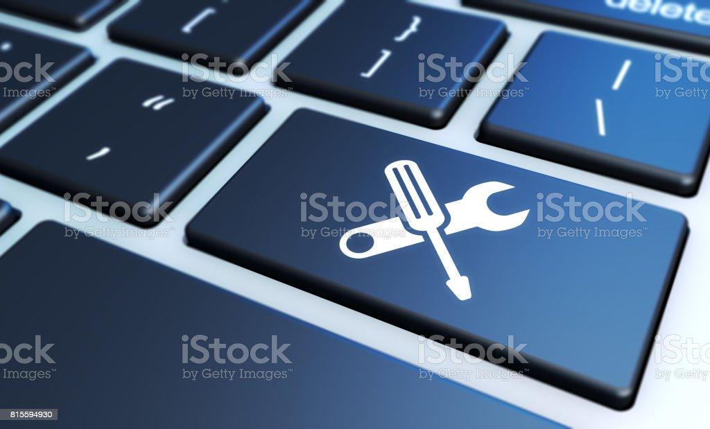 컴퓨터 서비스 작업 도구 아이콘 - 로열티 프리 0명 스톡 사진