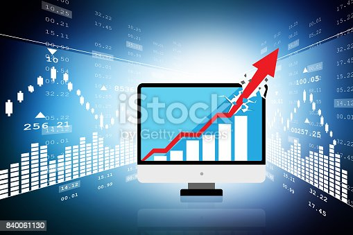 istock computer showing a financial graph 840061130