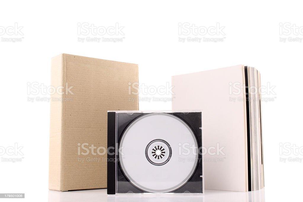 Computer software box and manual stock photo