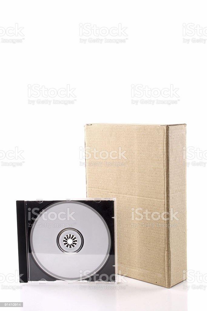 Computer software box stock photo