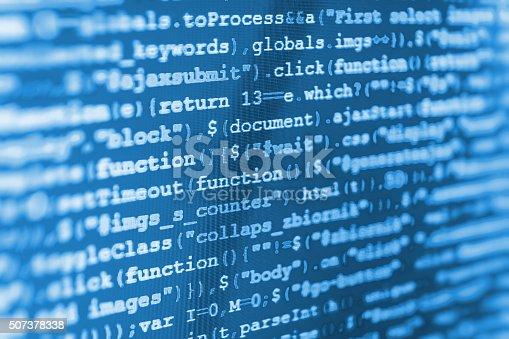 istock Computer source code programmer script developer. 507378338