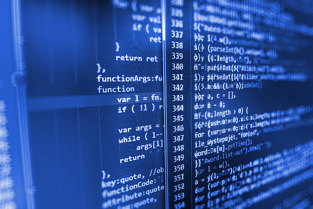 computer source code programmer script developer. - computer language stock photos and pictures