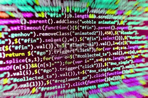 istock Computer source code programmer script developer. 508498004