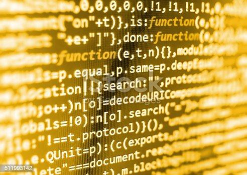 istock Computer source code programmer script developer. 511993142
